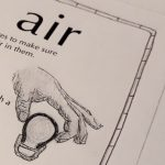 a detail shot of a page from the zine: air